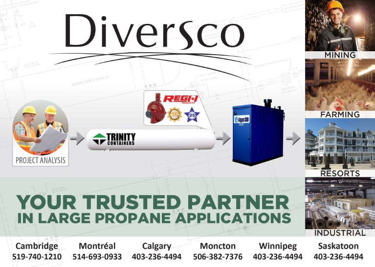 Diversco, your trusted partner in large propane applications